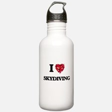 I love Skydiving Water Bottle