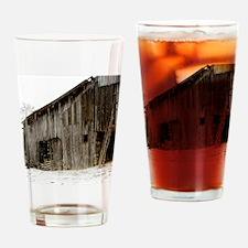 Winter Barn Drinking Glass