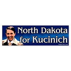 North Dakota for Kucinich bumper sticker