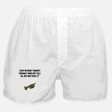 A Day Without Trumpet Boxer Shorts