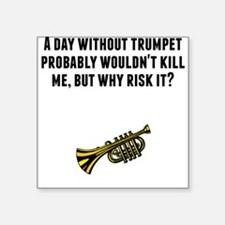 A Day Without Trumpet Sticker