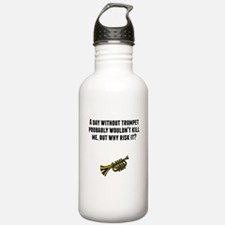 A Day Without Trumpet Water Bottle