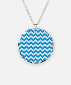 Blue Chevron Necklace