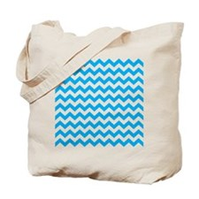 Blue Chevron Tote Bag
