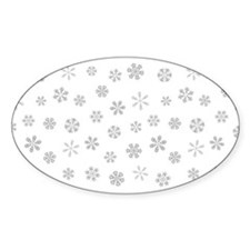 Silver White Holiday Snowflakes Decal