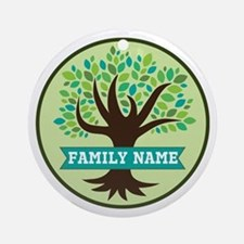 Genealogy Family Tree Personalized Ornament (Round