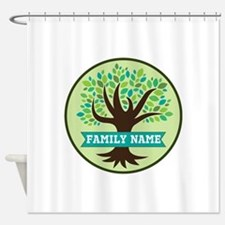 Genealogy Family Tree Personalized Shower Curtain