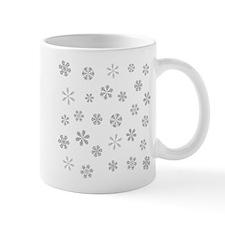 Silver White Snowflakes Pattern Mugs
