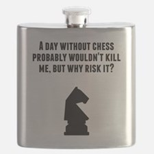 A Day Without Chess Flask