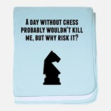 A Day Without Chess baby blanket