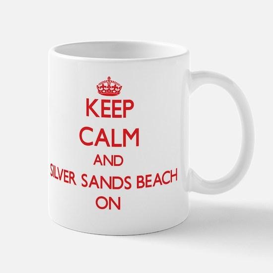 Keep calm and Silver Sands Beach Florid Mug