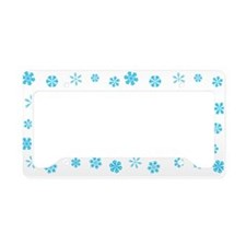 Winter Holiday Blue Snowflakes License Plate Holde