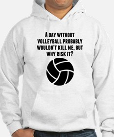 A Day Without Volleyball Hoodie