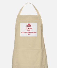 Keep calm and South Marco Beach Florida ON Apron