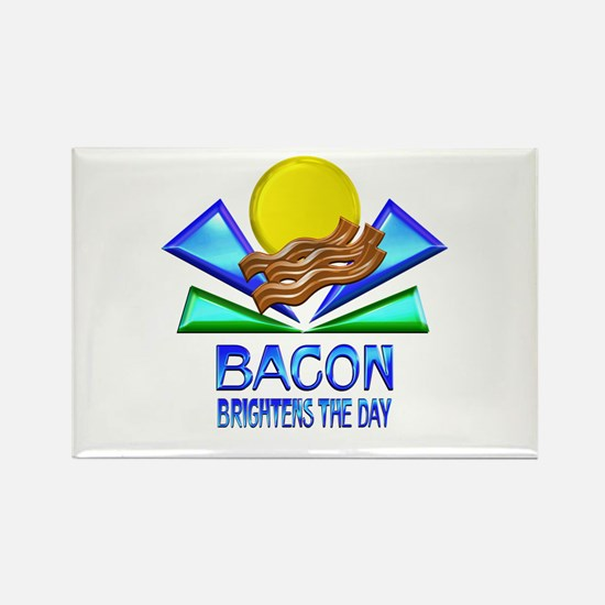 Bacon Brightens the Day Rectangle Magnet