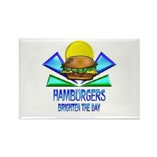 Hamburgers Brighten the Day Rectangle Magnet