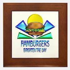 Hamburgers Brighten the Day Framed Tile