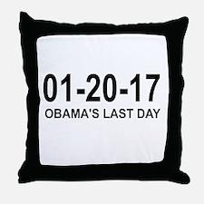 01-20-17 - OBAMA'S LAST DAY Throw Pillow