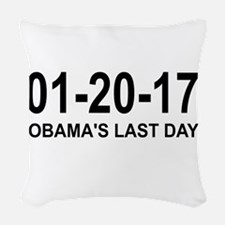 01-20-17 - OBAMA'S LAST DAY Woven Throw Pillow