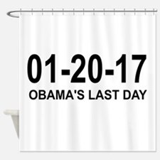 01-20-17 - OBAMA'S LAST DAY Shower Curtain