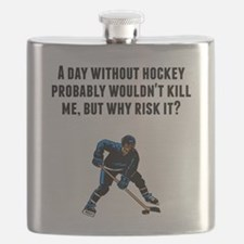 A Day Without Hockey Flask