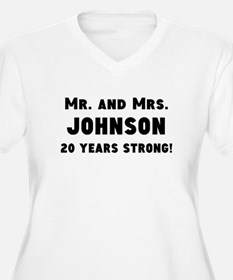 Mr. And Mrs. Anniversary Plus Size T-Shirt