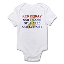 Red Friday Yellow Ribbon Infant Bodysuit