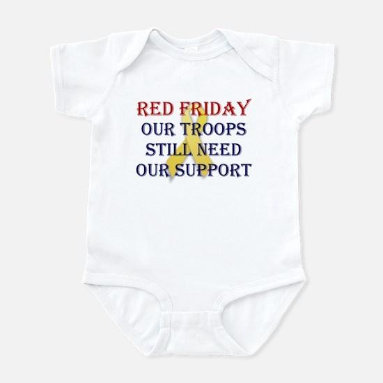 Red Friday Yellow Ribbon Infant Bodysuit