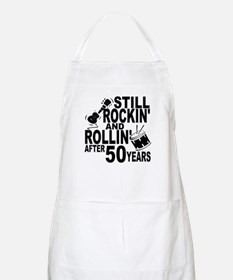 Rockin And Rollin After 50 Years Apron