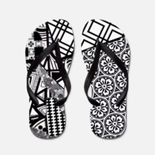 Chaos in Black and White Flip Flops