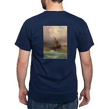 Aivazovsky - Ship on Stormy Seas T-Shirt