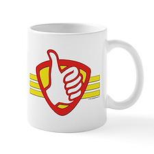 L H Superhero Logo Mug