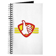 L H Superhero Logo Journal