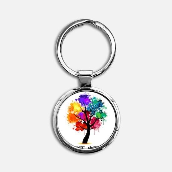 Funny Gay pride Round Keychain