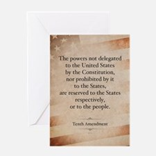 The Tenth Amendment Greeting Cards