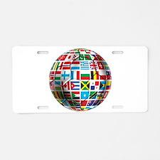 World Soccer Ball Aluminum License Plate