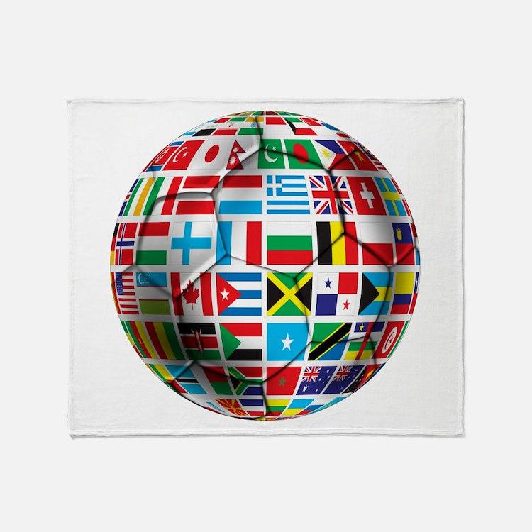 World Soccer Ball Throw Blanket