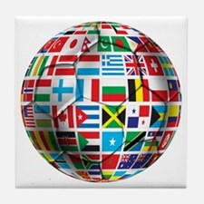 World Soccer Ball Tile Coaster