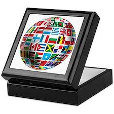 World Soccer Ball Keepsake Box