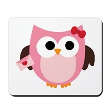 Be My Valentine Owl Mousepad