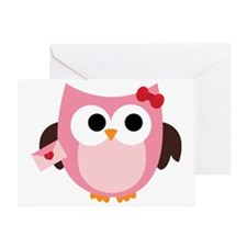 Be My Valentine Owl Greeting Card