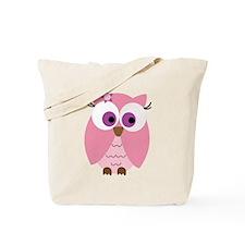 Cute Pink Owl Tote Bag