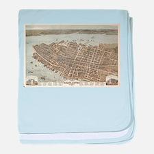 Vintage Pictorial Map of Charleston ( baby blanket