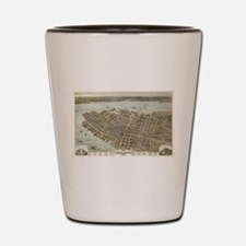 Vintage Pictorial Map of Charleston (18 Shot Glass