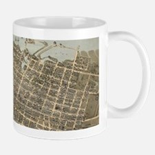 Vintage Pictorial Map of Charleston (1872) Mugs