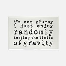 i'm not clumsy - black Rectangle Magnet