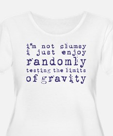 i'm not clumsy - blue Plus Size T-Shirt