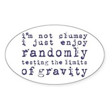 i'm not clumsy - blue Decal