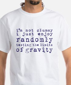 i'm not clumsy - blue T-Shirt