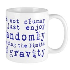 i'm not clumsy - purple Mugs